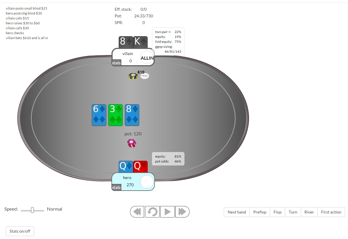 Pacific poker hand replayer
